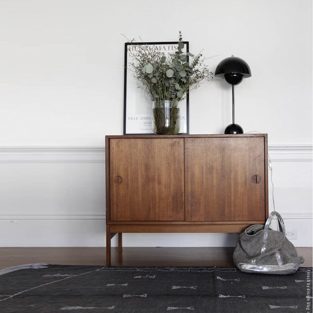 retro sideboard decorating - the round button blog