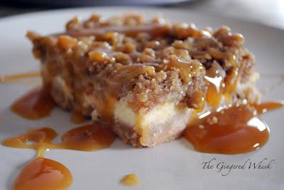 Caramel Apple Cheesecake Bars (The Gingered Whisk)