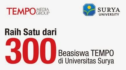 Rebut 300 Beasiswa Tempo di Universitas Surya