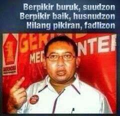 Fadlizon Tukang Fitnah Pendukung Prabowo