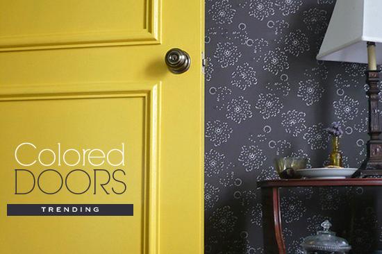 My yellow bedroom door when we were still living in a condo.