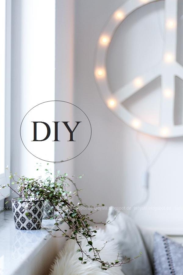 DIY Leuchtobjekt Peace
