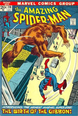 Amazing Spider-Man #110, The Gibbon, John Romita cover