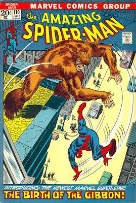 Amazing Spider-Man #110, The Gibbon, John Romita cover