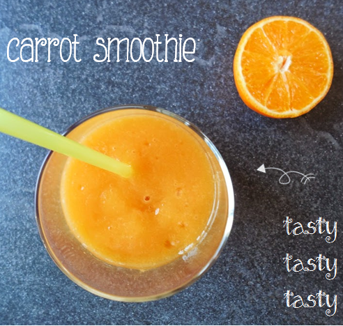 Healthy smoothies: best ever carrot mango smoothie by Welcome to Mommyhood