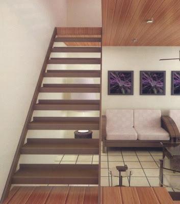 gambar desain tangga kayu minimalis terbaru - desain