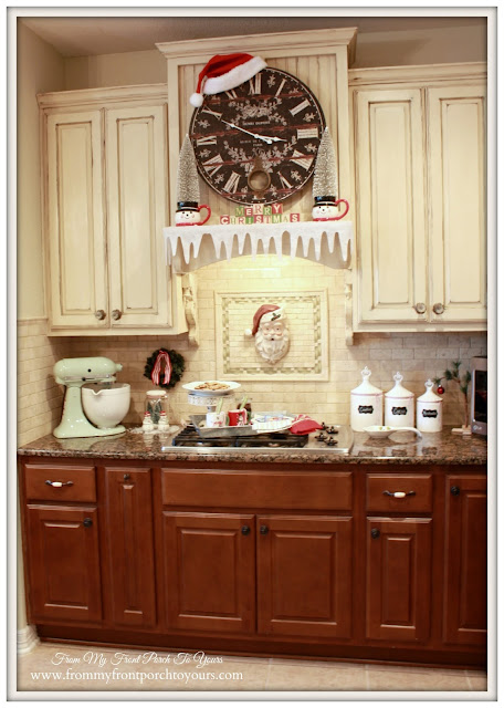 Vintage Farmhouse Christmas Kitchen-Country Living-French Country-From My Front Porch To Yours