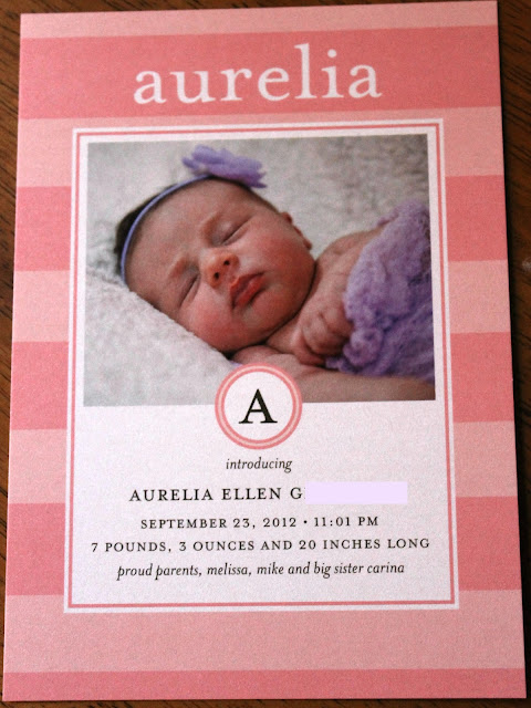 Growing Up Geeky Aurelias Birth Announcements and Tiny Prints – Tiny Prints Birth Announcement