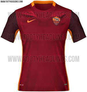 gambar photo Jersey As Roma home terbaru musim depan 2015/2016