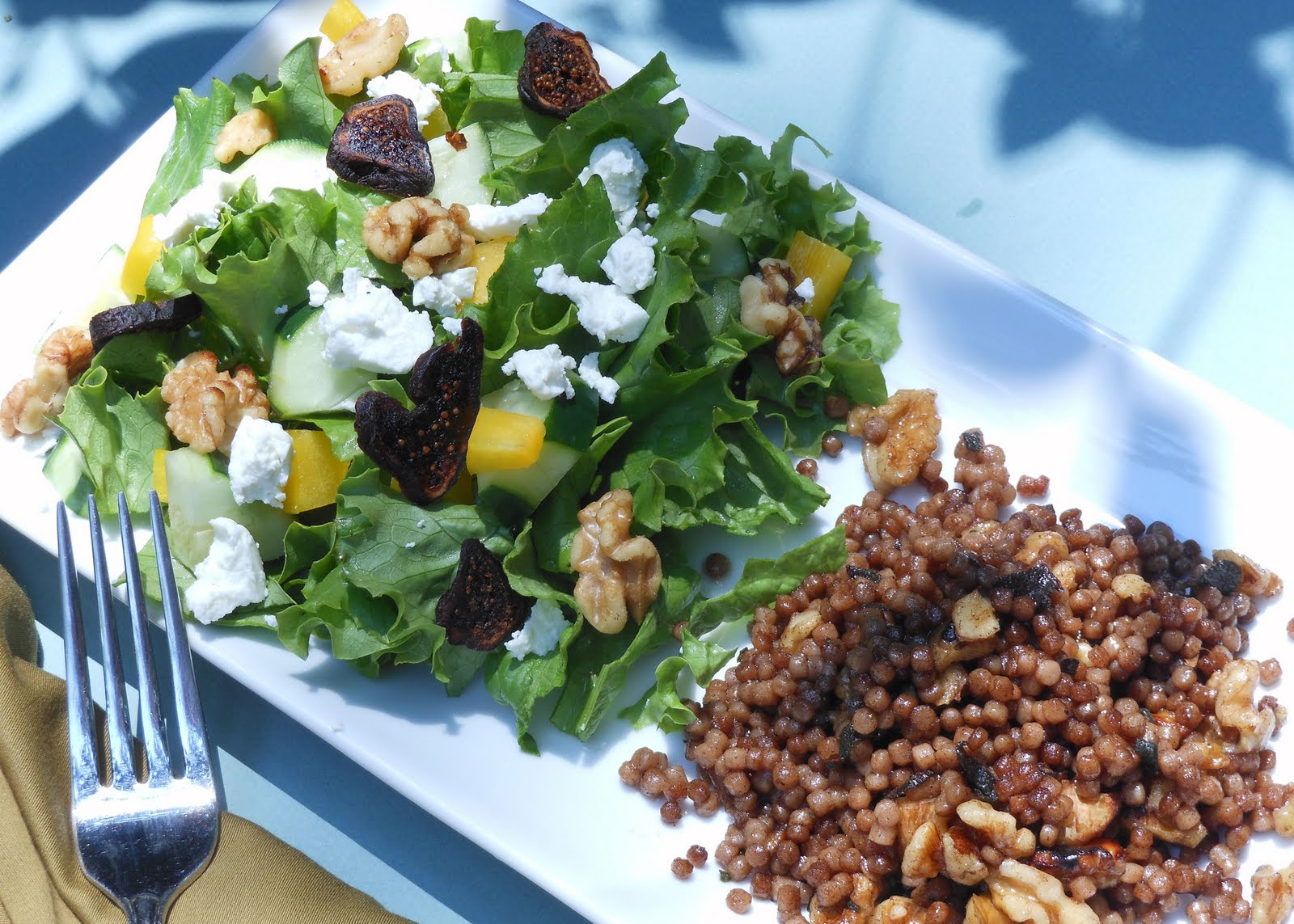 fresh sage and walnuts paired with a fig, goat cheese and walnut salad ...
