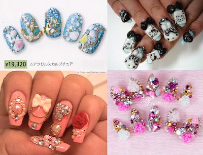 """Japan style nails - tydzień 6 projektu """"Kontynenty"""", Azja"""