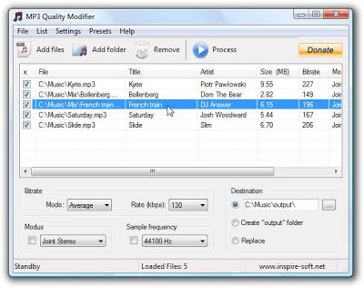 MP3 Quality Modifier Portable