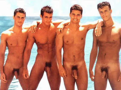 See hunks in the nude at the beach inside.