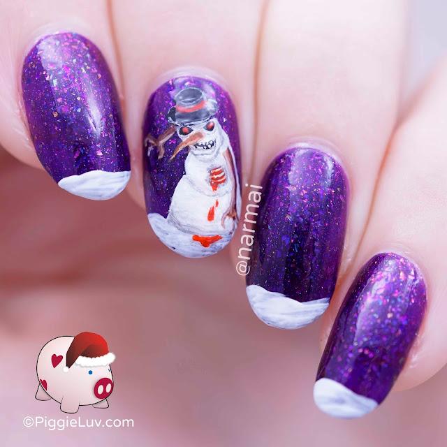 Snowman Nail Art Tutorial: PiggieLuv: December 2015