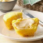 Corn muffin and butter