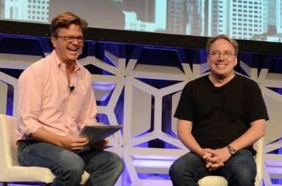 Linus Torvalds em participação da LinuxCon 2015, nos EUA