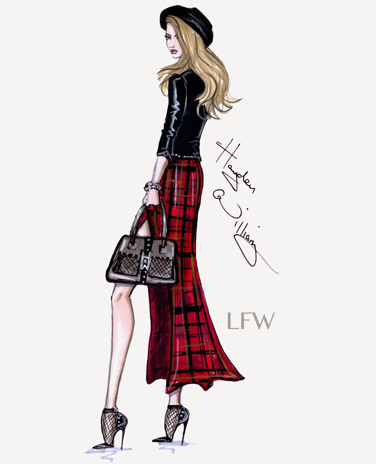 Hayden Williams Fashion Illustrations Fashion Week Style By Hayden Williams Lfw
