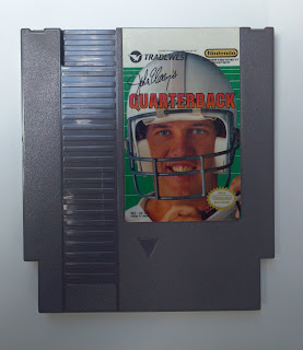 nes football cartridge john elway's quarterback