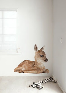 ondeugendespruit hertje bambi kinderkamer