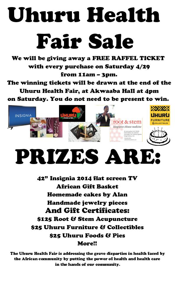Uhuru Health Fair Sale