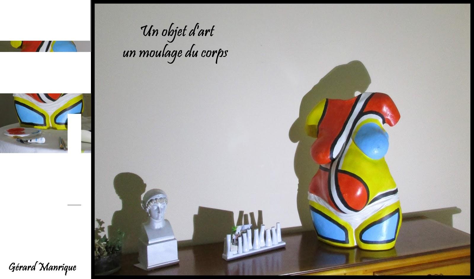 Objet d coratif objet d 39 art buste d coratif pl tre peint for Objet platre deco