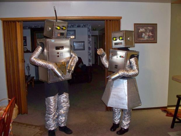 Homemade Robots Halloween Costumes