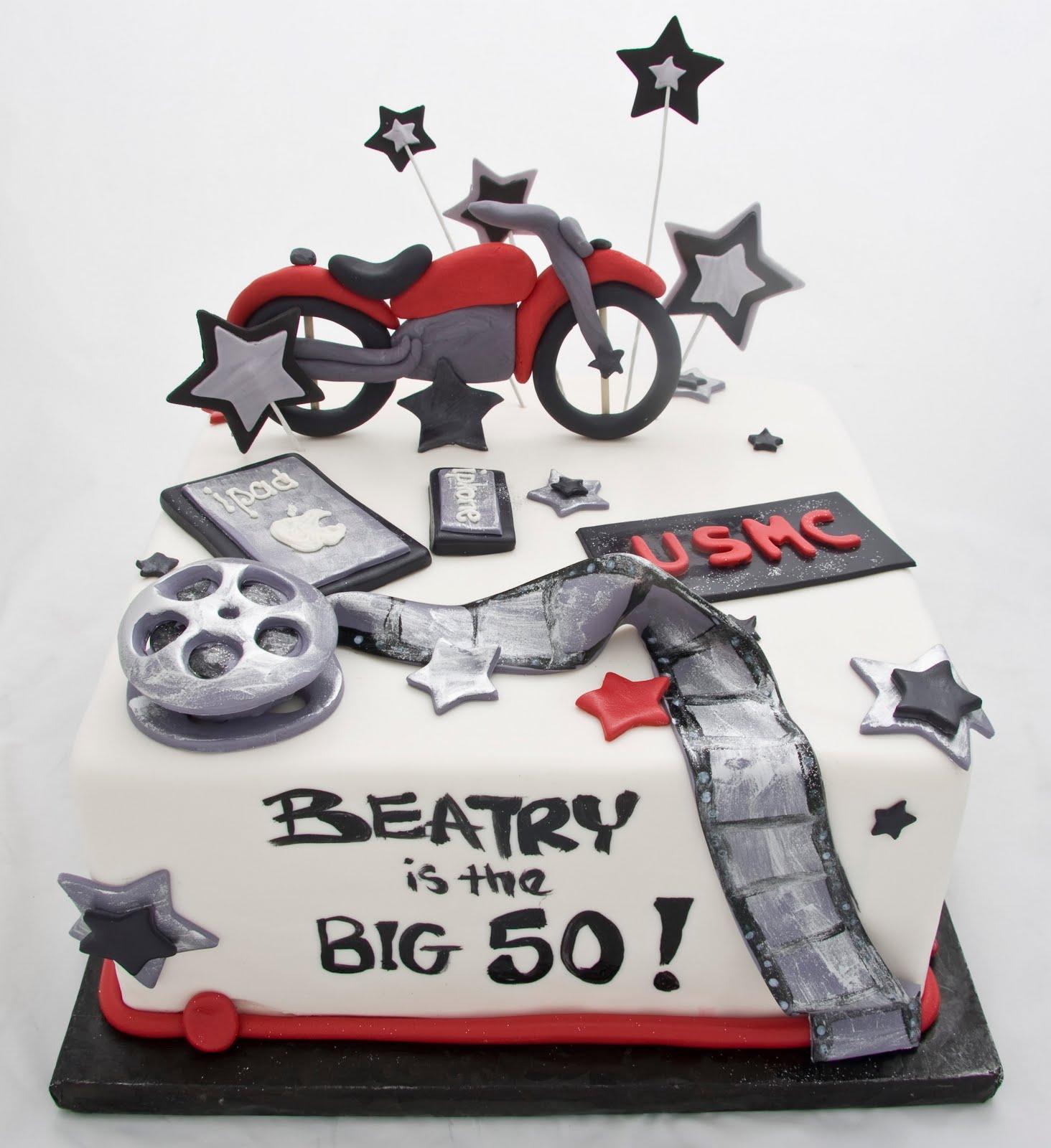 The Crimson Cake Blog Motorcycle Film Usmc Cake