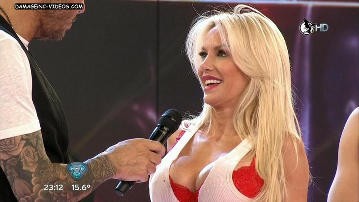 Luciana Salazar busty celebrity ina red bra HD video