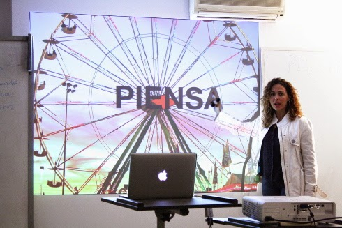 Keka Sánchez en el taller de Aerco Comunidad sobre Marca Personal