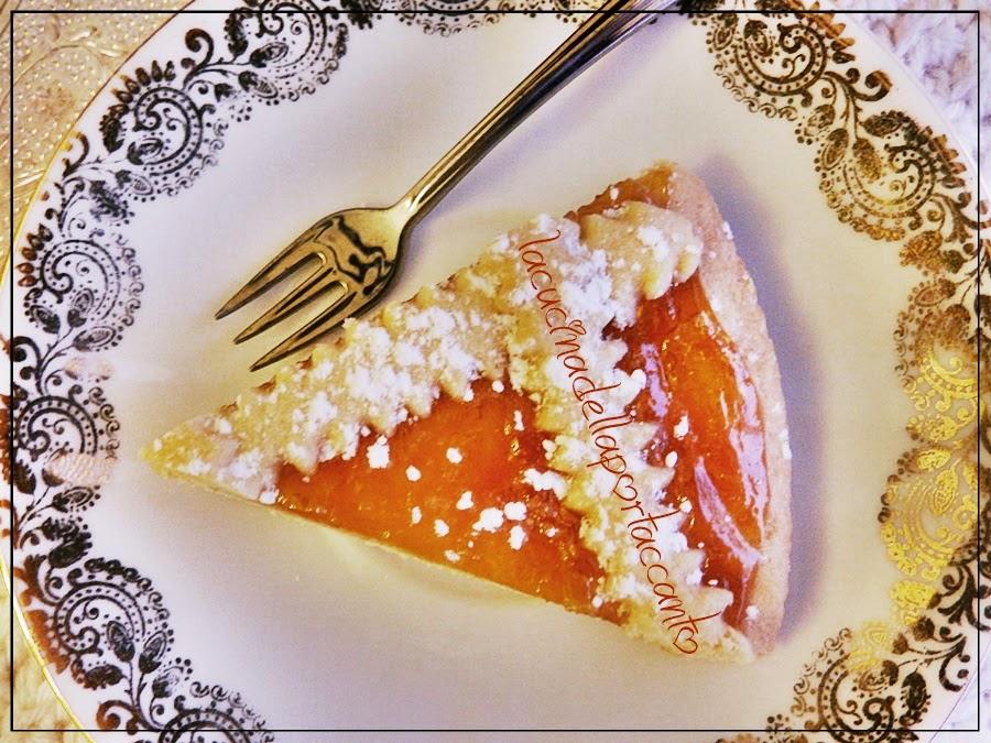 crostata senza glutine e senza lattosio, alla marmellata di rose / tart gluten free and lactose free, with rose's jam