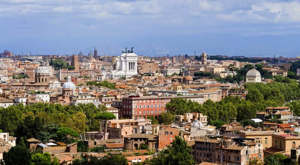 Rome vue d 39 en haut depuis le janicule for Table vue de haut