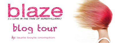 Blaze [or Love in the time of Supervillains] tour: guest post + giveaway