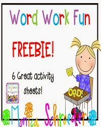 Working WIth Words Freebie: The Schroeder Page