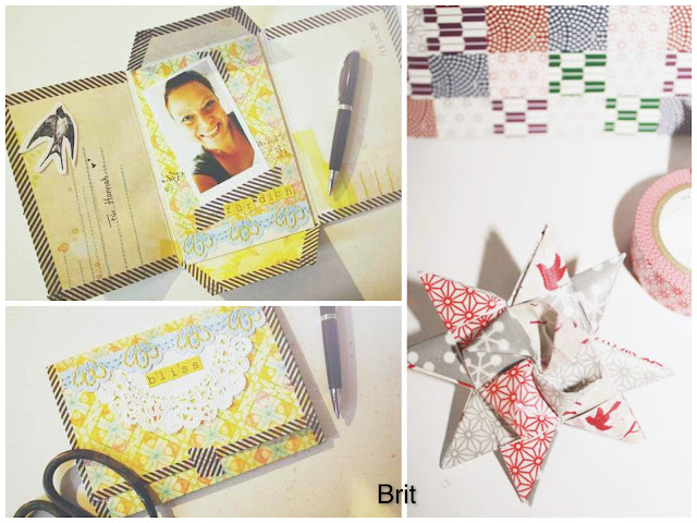 Material der Woche | Masking Tape | Mini-Album, Fröbelstern