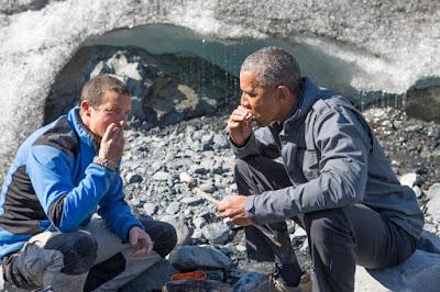 Bear Grylls e o presidente norte-americano Barack Obama - Divulgação