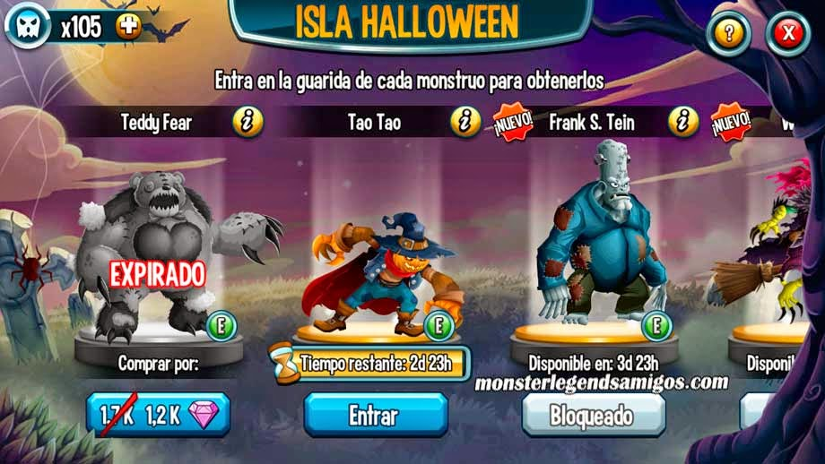 imagen de tao tao de la isla halloween de monster legends