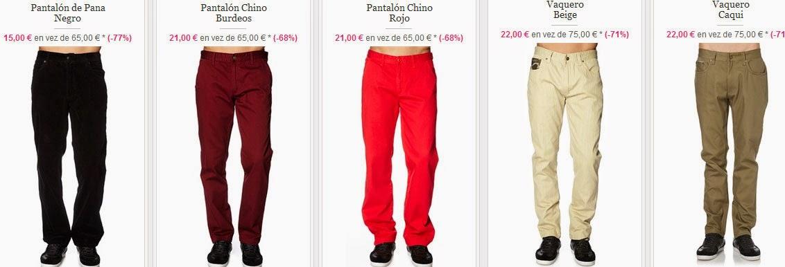 Cinco ejemplos de esta oferta de pantalones