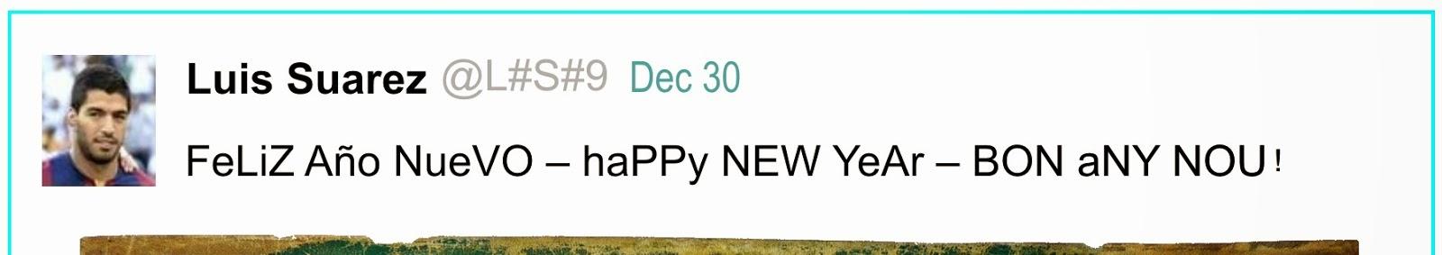 Mensaje de Feliz Año Nuevo.