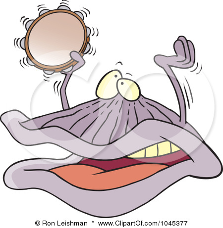 Royalty-Free-RF-Clip-Art-Illustration-Of-A-Cartoon-Clam-Playing-A-Clam ...