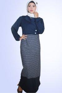 Idmonia Gamis 10 - Biru Dongker (Toko Jilbab dan Busana Muslimah Terbaru)