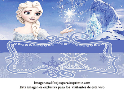Invitaciones de cumpleaños de Elsa de Frozen