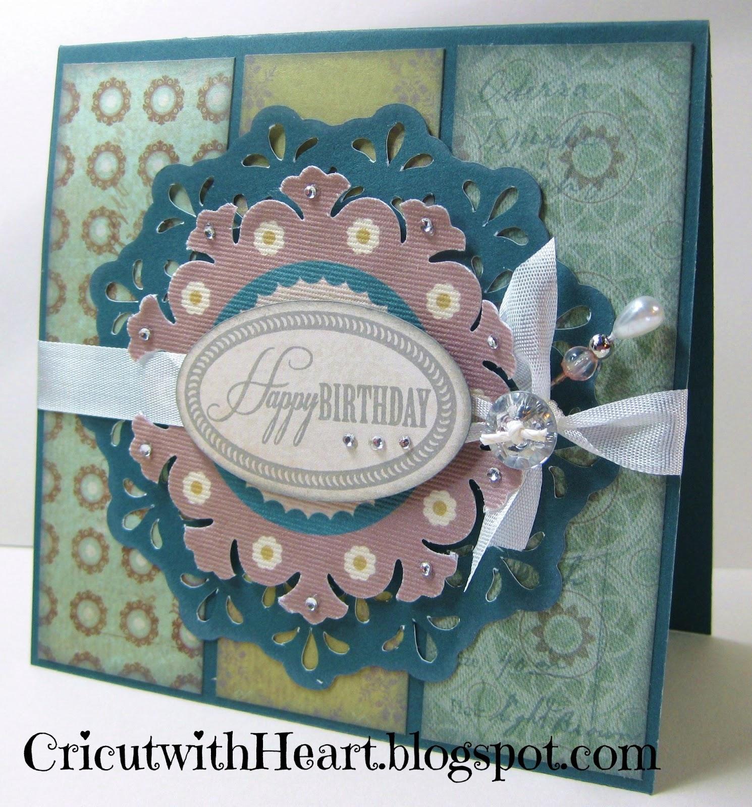 Cricut With Heart Avonlea Birthday Card