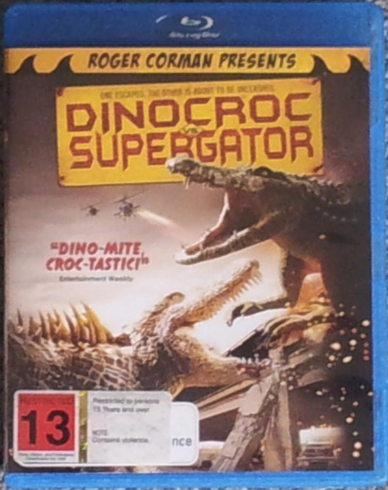 Dinocroc+Supergator+small ... rest of the first two thirds of the movie running from the Supergator.