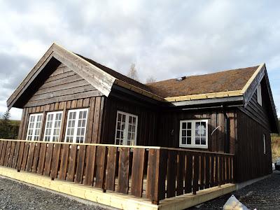Utvendig beis hytte