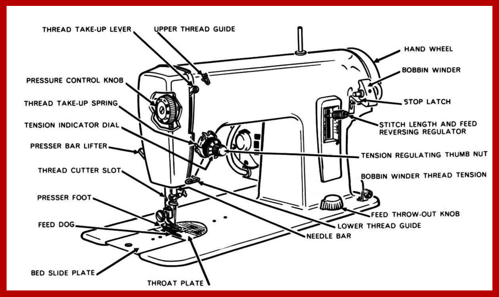 treadle sewing machine parts