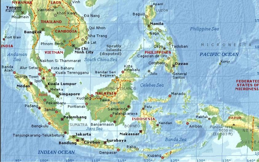 Letak, Luas, dan Batas Asia Tenggara