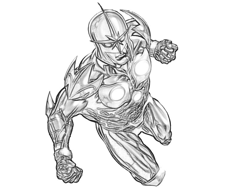 printable-marvel-vs-capcom-nova-coloring-pages