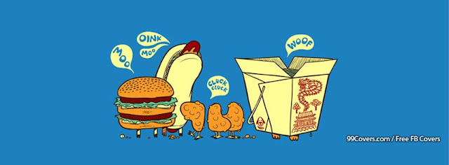 Facebook Çizgi Gıda Kapak Fotoğrafları 10 Adet