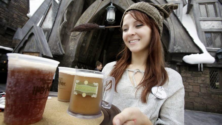 Cerveja amanteigada do Harry Potter em Orlando
