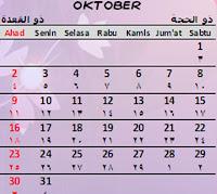 Peringatan Hari Besar Di Bulan Oktober